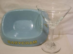 Babycham Ashtray & Martini-style Glass